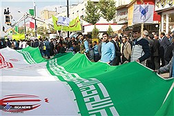 حضور دانشگاهیان، در راهپیمایی  یوم الله ۱۳ آبان