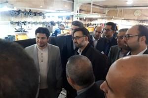 بازدید معاون تحقیقات، فناوری و نوآوری دانشگاه آزاد اسلامی  از کارخانه کفش تبریز