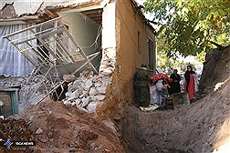 خسارات زلزله در روستای  ورنکش  آذربایجان شرقی
