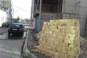 کارگاه های ساختمانی نباید معابر را تصرف کنند
