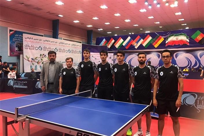 کسب رتبه دومی دانشگاه آزاد در پایان مرحله اول لیگ برتر تنیس روی میز