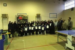 مسابقات تنیس روی میز کارکنان خواهر دانشگاه آزاد در کرمان پایان یافت