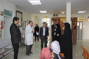 رئیس دانشگاه آزاد اسلامی واحد کرج از امکانات پزشکی درمانگاه سیدالشهدا بازدید کرد