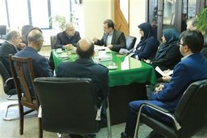 بازدید آقامیری  از دانشکده علوم ارتباطات و مطالعات رسانه واحد تهران مرکزی
