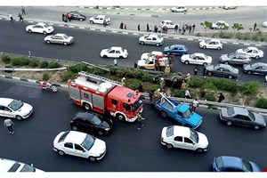واژگونی پراید در اتوبان باکری/ ۵ نفر مصدوم شدند