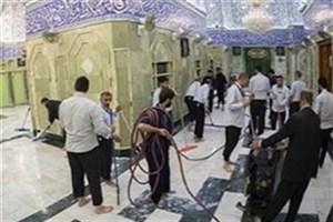 حرم حضرت عباس (ع) غبارروبی شد +عکس