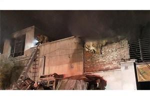 آتش سوزی در یک کارگاه مبل در جنوب تهران +عکس