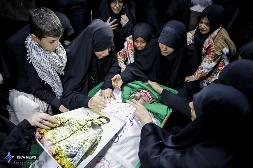 وداع با پیکر دو شهید مدافع امنیت