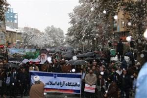 حضور پرشور دانشگاهیان دانشگاه آزاد اسلامی همدان در دفاع از اقتدار و امنیت کشور