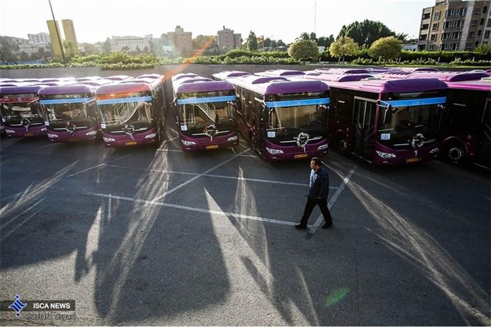 مراسم  بهره برداری از ناوگان اتوبوس و مینی بوس های درون شهری