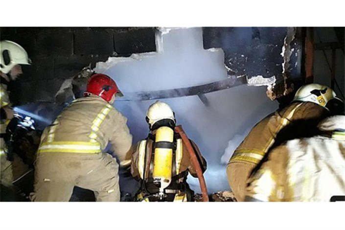 سوختن تابلوفرشها در میان شعلههای آتش