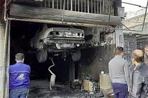 تعمیرگاه خودرو در خیابان سراج آتش گرفت