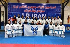 تداوم صدرنشینی دانشگاه آزاد در لیگ کاراته بانوان