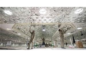آینهکاری سرداب «الشهدا» حرم حسینی امسال تکمیل میشود+عکس