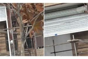 تخریب یک باب مغازه غیرمجاز در بلوار بعثت دماوند