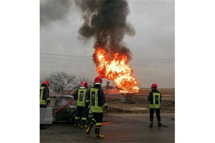 انفجار لوله گاز