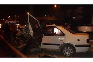 سرعت زیاد در اتوبان امام علی (ع) حادثه آفرید/3 نفر مصدوم شدند
