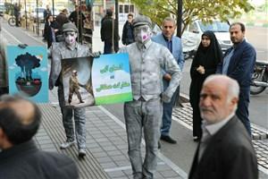 اجرای نمایش خیابانی با موضوع کاهش آلودگی هوا در منطقه 13