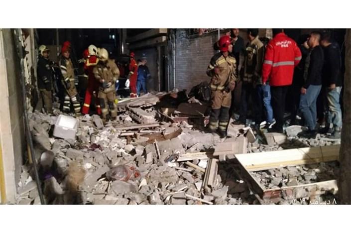 انفجار کپسول گاز دو واحد مسکونی را تخریب کرد