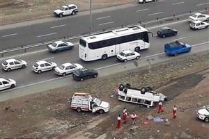 تصادف اتوبوس با 7 خودرو  در ولنجک/ یک نفرکشته و 3 نفر مصدوم شدند