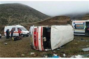 واژگونی مینیبوس در آذرشهر/ ۲۳نفر  مصدوم  شدند