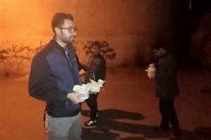 غذای گرم بین کارتن خوابهای شیراز توزیع شد