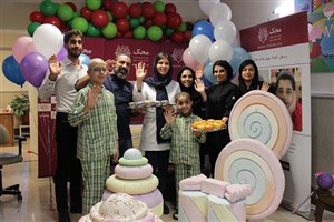 پخت کیک سلامتی کودکان مبتلا به سرطان در اقامتگاه ستارخان محک