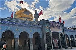 سیاهپوشی حرم حضرت زینب (س) به مناسبت شهادت سپهبد سلیمانی و  ابومهدی المهندس