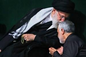 خاکسپاری حاجقاسم سلیمانی با عبای نماز شب رهبر انقلاب