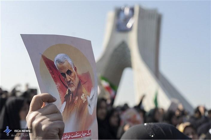 مراسم تشیع شهید سردار قاسم سلیمانی در تهران(6)