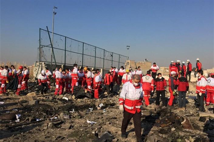 حضور 195 امدادگر در محل حادثه سقوط هواپیما