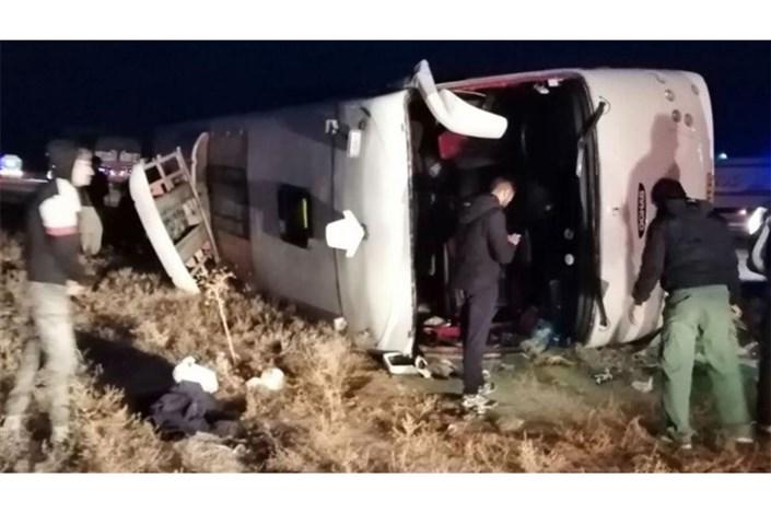 واژگونی اتوبوس تهران-گنبد