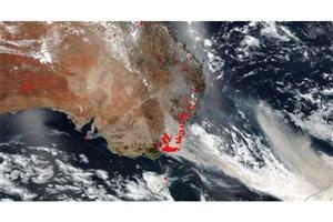 دود آتش سوزی استرالیا به برزیل رسید