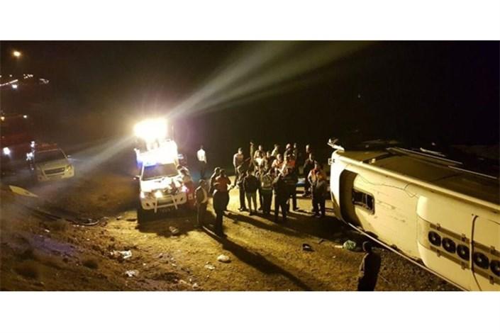 دلیل  واژگونی اتوبوس تهران-گنبد اعلام شد