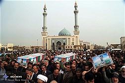 مراسم تشییع و خاکسپاری شش شهید سانحه هوایی -قم