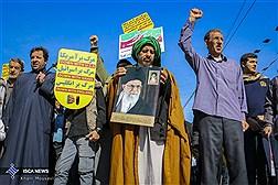 راهپیمایی مردم اهواز در حمایت از سپاه پاسداران انقلاب اسلامی