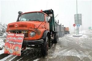 انجام  عملیات برف روبی در شرق تهران