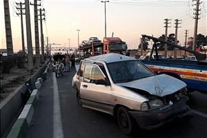"""تصادف  4 خودرو روی پل """"کن""""/ 16 نفرمصدوم شدند"""