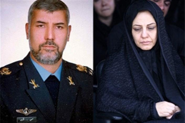 همسر شهید سرلشکر خلبان حسین لشکری درگذشت