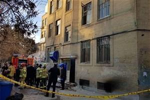 آتش سوزی در ساختمان یک شرکت بیمه