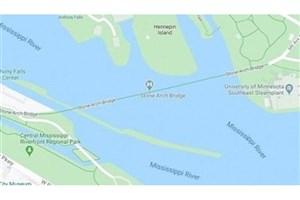 سقوط در رودخانه یخ زده با  Google Maps
