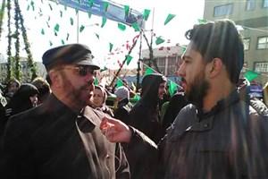 حضور جوانان در راهپیمایی 22 بهمن پرشور و باشکوه است