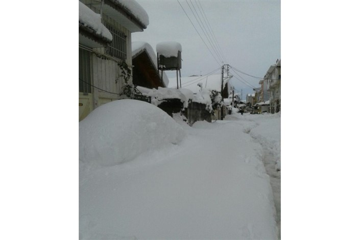 خسارت برف به ۶۵ خانه روستایی