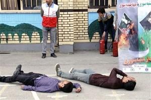 برگزاری مانور پیشگیری از حوادث چهارشنبهسوری در مدارس منتخب