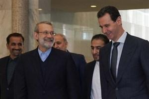 لاریجانی با رئیس جمهور سوریه در دمشق دیدار کرد