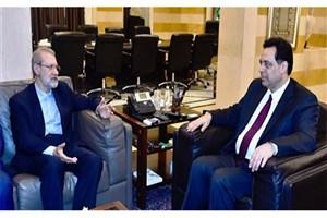 لاریجانی با نخستوزیر لبنان دیدار کرد