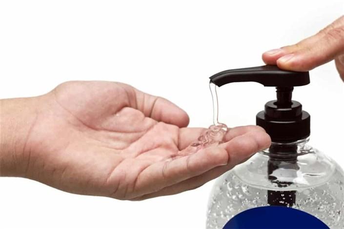 توزیع مواد ضد عفونیکننده و الکل