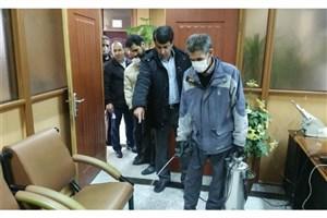 ضدعفونی و ایزوله ساختمانها و محیط دانشگاه آزاد اسلامی کرمانشاه