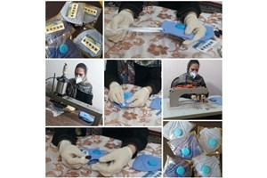 گروه جهادی منتظران ظهور روزانه ۱۰هزار ماسک تولید میکند