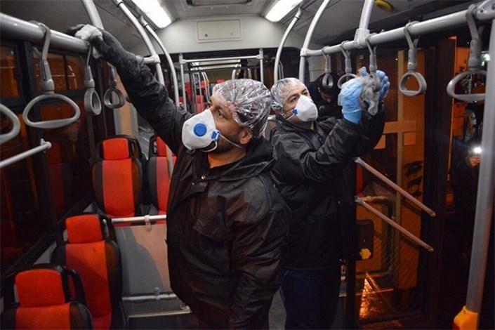 ضد عفونی کردن اتوبوسهای پایتخت